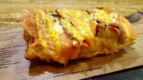 Hojaldre de salmón con verduritas